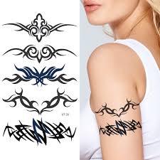 amazon com kanji yin yang dragon black temporary tattoos set