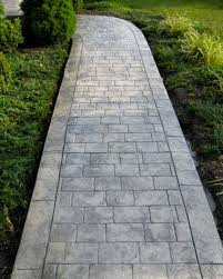 Backyard Concrete Ideas Stamped Concrete Walkway Ideas Aesthetic Addition To A Property