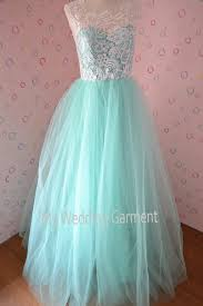 lace tulle bridesmaid dress prom dress mint green tulle dress