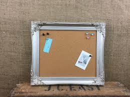 Pin Board Silver Framed Cork Board Framed Pin Board Ornate Cork Board