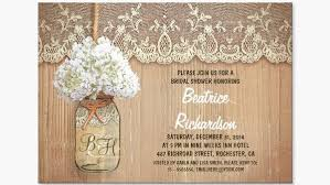 Wedding Shower Invites Rustic Bridal Shower Invitations Template Best Template Collection