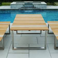 Teak And Stainless Steel Outdoor Furniture stainless steel outdoor dining