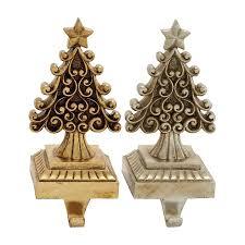 shop woodland imports christmas trees 2 pack decorative resin