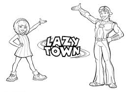 lazytown 14 tv shows u2013 printable coloring pages