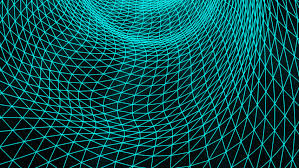 grid pattern alpha grid waves with alpha channel stock footage video 31310011