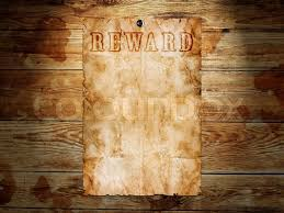 west wanted poster on wooden wall stock photo colourbox