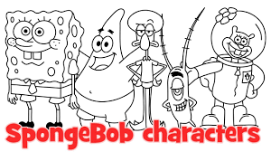 drawing pictures of spongebob how to draw spongebob characters
