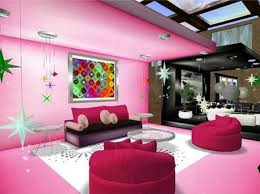 InspiredpinklivingroomdesignsPink Decorating Ideas For Living - Pink living room design