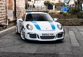 porsche 911 white 2017 porsche 911 r in white with blue stripes has pdk hating