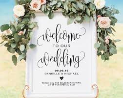 wedding program board welcome wedding sign welcome wedding printable wedding sign