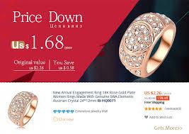 aliexpress buy beagloer new arrival ring gold beagloer new arrival engagement ring gold color women rings