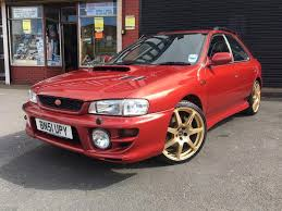 subaru red subaru impreza uk turbo 2000 51 plate red in birmingham