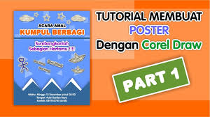 cara membuat poster manual tutorial membuat poster dengan corel draw x7 part 1 youtube