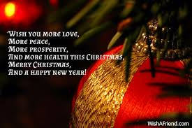 wish you more more peace more prosperity and merry