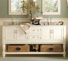 Spa Themed Bathroom Ideas - accessorize your bathroom vanity with sea grass baskets they are