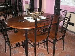 table de cuisine en fer forgé table salle a manger bois et fer table ronde rallonge slowhand