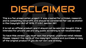 disclaimer standard disclaimer for fan projects original trilogy