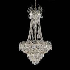 Faux Crystal Chandeliers Brass Antique Satin Chandeliers Bellacor