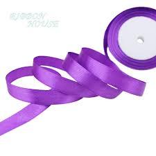 purple satin ribbon 25 yards roll purple single satin ribbon wholesale gift