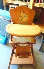 Antique Wood High Chair Vintage High Chair Ebay