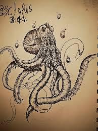 biomechanical octopus sketch 1 by vincinero on deviantart