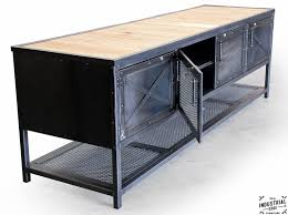 custom industrial kitchen island reclaimed wood u0026 steel u2013 real