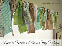 Making A Window Valance How To Make A Fabric Strip Valance A Diy No Sew Window Treatment