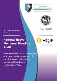 Cover Page For Annual Report Template by National Heavy Menstrual Bleeding Audit Second Annual Report