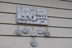 Home Decor Wall Signs by Home Is Where The Navy Sends Us Metal Wall Sign Wall Art Home