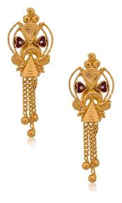 gold earrings images buy senco gold 22k yellow gold drop earrings online at low prices