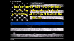 Thin Blue Line Flag Ban The Thin Blue Line Flag Petition From P U0026p News Commentary