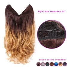 invisible line hair extensions 20 multi color fish line hair brazilian natural wave full head