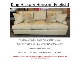 King Furniture Sofa by King Hickory Henson Sofa English Arm Turned Leg You Choose The