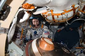astronaut kate rubins wears a hand painted spacesuit nasa