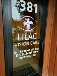 new door graphics for lilac vision care in henrietta rochester ny