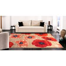 Red And Turquoise Area Rug 39 Terra Poppy Area Rug Orange Red Tan Ideas For Tx Home