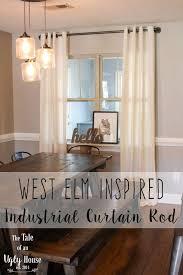 Curtain Table Best 25 Industrial Curtain Rod Ideas On Pinterest Pipe Curtain