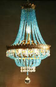 blue crystal chandelier light turquoise chandelier cobalt blue lighting restoration hardware wood