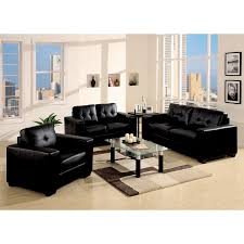 Simple Living Room Decor With Black Leather Sofa To Decorate - Living room decor with black leather sofa