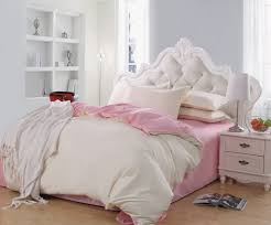 elegant bedroom with queen size bed frame tufted white plain