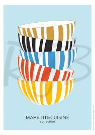 affiches cuisine copie de affiche ma cuisine bols format a4 déco