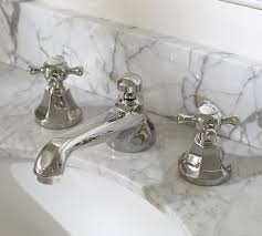 cross handle widespread bathroom faucet pottery barn