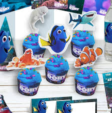 hotel transylvania cake toppers free finding cupcake toppers decorations findingdory mrs