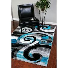 Black Grey And White Area Rugs Rugs Modern Trendz Abstract Turquoise Grey White Black