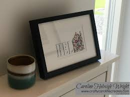 curries home decor craftycarolinecreates hidden letters home decoration with home