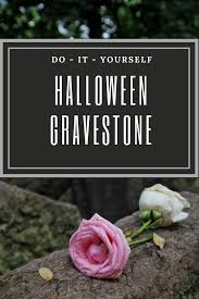 diy halloween gravestone