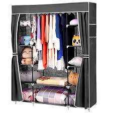 portable storage organizer wardrobe closet u0026 shoe rack assemble