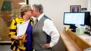 Most states to abide by same sex marriage ruling  but       CNN com CNN com Laura Zinszer  left  and Angela Boyle kiss after receiving their marriage license June