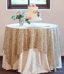 high quality 90inch square gold silver sequin tablecloth wedding