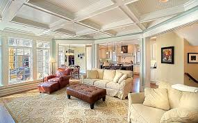 build a living room how to build coffered ceiling living room traditional with
